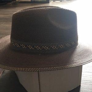 Brown floppy sun hat